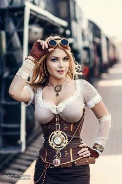 Steampunk Girls http://steampunkopath.tumblr.com/: Steampunk Cosplay Girl, Hot Steampunk Girl, Fuck Girl, Costume, Steam Punk Girl