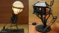 steampunk lamps: Awesome Lamps, Steampunk Centerpiece, Hot Air Balloon, Bing Images, Steampunk Furniture, Steampunk Lamps, Desk Lamps, Images Search, Awesome Nightlights