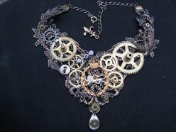 Steampunk necklace.  Can I make this?  Maybe.: Jewelry Necklaces, Cog Choker, Lady, Lace Choker, Cool Necklaces, Accessories, Photo, Steampunk Necklaces