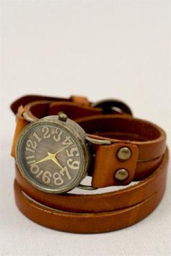 Super cute watch from a place called 'three birds nest': Bracelet Watch, Style, Bird Nests, Cute Watch, Leather Watch