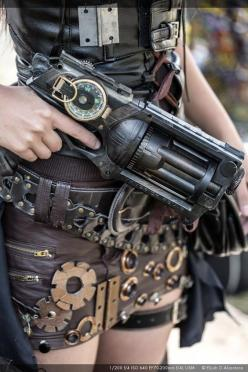 The Gears and Gun by reinfall.deviantart.com Nerf Maverick: Steampunk Fashion, Steampunk Dieselpunk, Steam Punk, 640 960, Steampunk Girls Fashion, Steampunk Nerf Guns, Steampunk Weapons, Steampunk Cosplay Girls