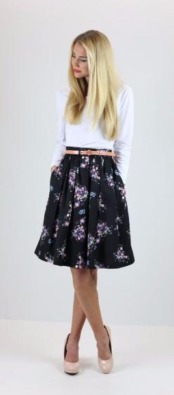 Simple and elegant - maybe with flats or boots and a glitter belt!