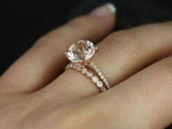 Eloise 9mm & Petite Bubbles 14kt Rose Gold Round by RosadosBox - this is my absolute favorite!!! But I would do platinum instead of rose gold: Wedding Ring, Dream Ring, Wedding Ideas, Rose Gold Engagement Ring, Dream Wedding, Rose Gold Wedding Band, E