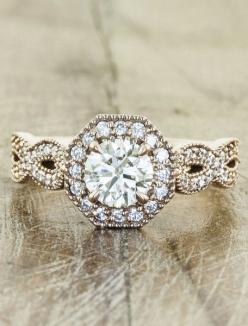 I'm a sucker for a unique, vintage-style setting.: Vintage Ring, Engagementring, Dream Ring, Wedding Ideas, Dream Wedding, Wedding Rings, Engagement Rings