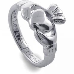 Ladies Silver Claddagh Ring SL92. Made in Ireland. (6.5)