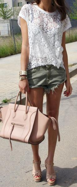 Oh my god!!!! This is the perfect outfit & bag!!! Except I'd have flip flops on! Luv this!