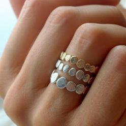 Ring: Pebble Rings, Style, Silver Pebble, Jewelry, Stacking Rings, Gold Vermeil
