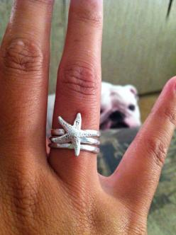 Starfish Ring Double Wrap Mermaid Statement by AWildViolet on Etsy size 8: Mermaid Ring, Starfish Ring, Bridesmaid, Etsy Size, Mermaid Statement, Wrap Mermaid