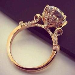 The sheer intensity of this setting.   40 Vintage Wedding Ring Details That Are Utterly To Die For