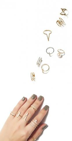 pick a ring - play favorites for a dainty statement or stack 'em all!: