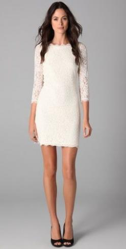 Street Style, April 2015: Silvia Postolatiev is wearing a white Ivoire lace dress with a pair of black heels: White Lace Dress, Lace White Dress, Rehearsal Dinner Dress, Street Style, Black And White Dress, Black Lace Dress, Lace Dresses