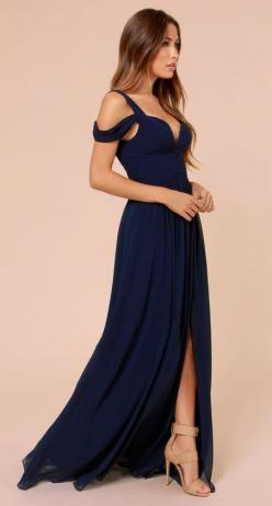 Bariano Ocean of Elegance Navy Blue Maxi Dress: Elegance Navy, Maxi Dresses, Bridesmaid Dresses, Blue Maxi, Navy Dress, Navy Blue Dress, Prom Dresses, Promdress