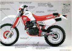 1986- Yamaha TT250 Ad; I think the 350 was a nice bike. I actually saw Jim Holley race one in Panama and he was winning the 250 class until the bike blew... He basically never let the throttle off and was just using the clutch in turns, he was infront of
