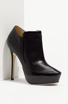 Free shipping and returns on Jimmy Choo 'Decoy' Platform Bootie at Nordstrom.com. An edgy yet cleanly styled leather bootie is set atop a skinny wrapped heel and concealed platform.
