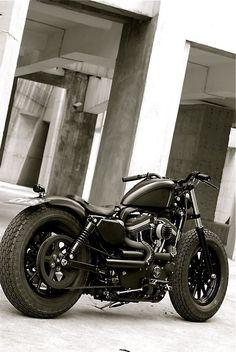 Harley Bobber with Fat Tyres