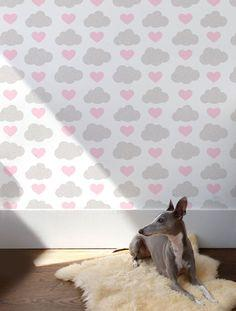 Loveclouds Wallpaper in Illusion for Kids | Nursery | Children's Spaces