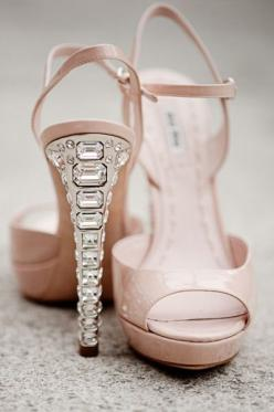 Miu Miu nude sandals with crystal heel: Miumiu, Wedding Shoes, Jimmy Choo, Miu Miu, High Heels, Shoes Shoes