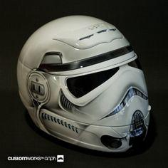 Stormtrooper Motorcycle Helmet; I fucking WANT THIS!!!!!!!!!