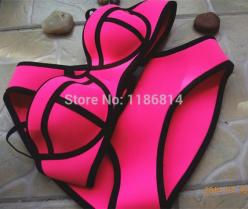 Swimwears Triangle Women's Fashion Neoprene Bikinis Woman New Summer 2015 Sexy Swimsuit Bath Suit Push Up Bikini set Bathsuit  $10.98: Push Up Bikini, Sexy Swimsuits, Pink Bathing Suits 2015, Cheap Swimsuits, Swimwears Triangle