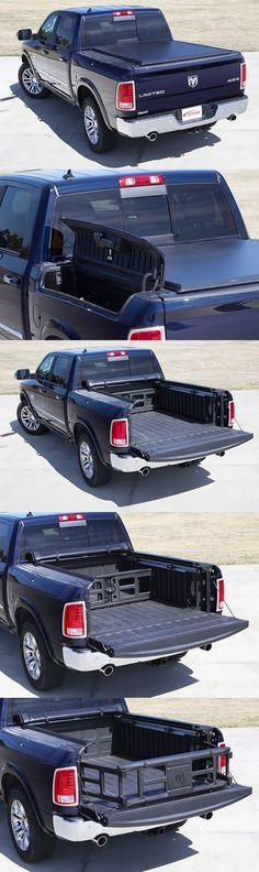 This Ram 1500 Truck has the RamBox package and our ACCESS Limited Edition Roll-Up Cover. This tonneau cover works perfectly with the RamBox package, including the cargo divider and bed extender.
