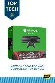 Xbox One Gears of War: Ultimate Edition Bundle :: This Xbox One bundle includes a full-game download of the hit game Gears of War: Ultimate Edition bundled with your Xbox One purchase. This new Xbox One bundle lets any gamer on your list plug and play rig