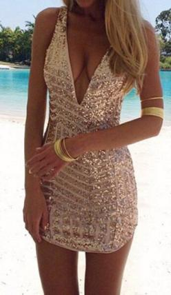 sequin dress..with the perfect arm cuff...