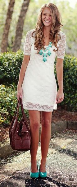White Notte by Marchesa Dress worn by Lauren Conrad (rehearsal or bridal shower dress?)
