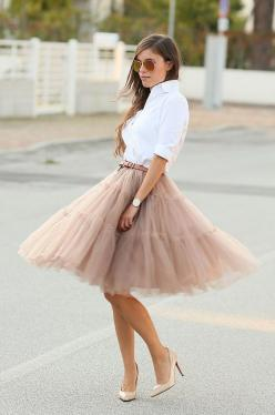 Amore Tulle Midi Skirt in Black. A tulle skirt is great for all types of occasions. This particular outfit I would wear to a dinner party....here any day..Follow Us For Arrival!!: Fashion, Street Style, Dress, Outfit, Black Tulle Skirts