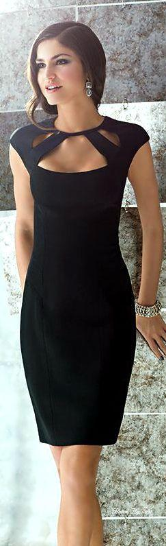 Gorgeous Little Black Dress With Lovely Neck Design 2015 Summer Arrivals: Neck Design, Black Dress Outfit, Classy Black Dress, Black Summer Dress, Black Evening Dress