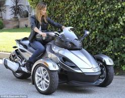 Can-Am Spyder motorcycle - Stacy Keibler: Motorcycle Stacy, 3 Wheel Motorcycle, Trike Motorcycle, Cars Motorcycles, Passion Motorcycles, Cars Bikes, Can Am Motorcycle, Motorcycles Cars, Trike Motobikes