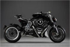CR is a Milan based motorcycle workshop, it is known for the refinement and the exclusivity of its amazing creations. The DUU is an innovative motorcycle powered by a muscular American big-twin engine giving this beast a 148 Nm of torque. The bike can be