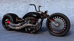 Custom Chopper, bicycle, MC, bike, wheels, curves, transportation, 2 wheels, photograph, photo: Harley, Custom Chopper, Motorbike, Cars Motorcycles, Chopper Motorcycle, Chopper Bike, Custom Bike
