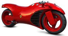 Ferrari V4 Motorcycle...This bike has a modified engine from a Ferrari Enzo, controls from an F-16 Fighter jet and buttons seen on a Formula 1 race car...Need I say anymore?