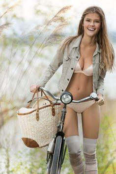 Girls and Bicycle. http://cooldamnpictures.blogspot.com