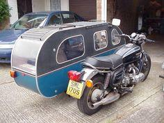 SidecaR-V - A Brilliant idea, you could bloody sleep in that... I like it - I 'bags' the inside not the outside seat lol  -  To connect with us, and our community of people from Australia and around the world, learning how to live large in small p