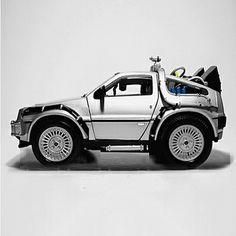 Smart Car Back to the Future mod with Flux Capacitor