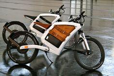 Two advantages of having a FEDDZ electric bike are: 1) You don't have to pedal because you ride it like a motorcycle 2) since it doesn't have an engine and gas tank it has great storage space. Other cool features: LED lights, removable battery for easy re