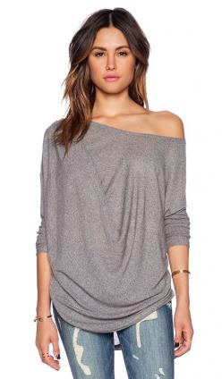 Stitch Fix: I love the color and casual cut of this shirt. It can be worn on one shoulder or two and looks great with jeans or leggings.