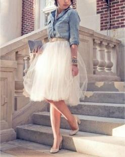 Favorite Combination (stripes: Formal Skirt, Wedding Dressses, Fashion, Tulle Skirts, Style, Wedding Dresses, White Outfit