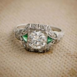 An Amazing Antique Diamond Engagement Ring by Estate Diamond Jewelry