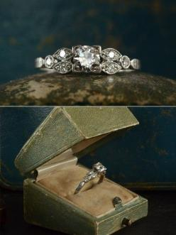 Vintage wedding ring wouldnt say no to this or any amazing vintage ring. But I wish the center frame was circular.