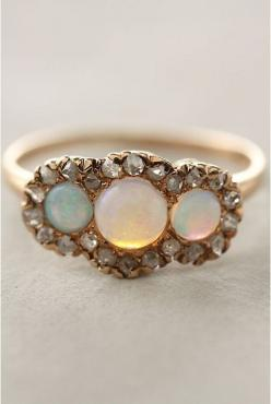 White Opal ring Gemstone ring | Gold ring with opal stone by EldorTinaJewelry | http://etsy.me/1Srlxgj: Opal Rings, White Opal Ring, Gemstone Rings, October Birthstone, Gold Rings, Dainty Ring