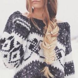 cozy knitted sweater