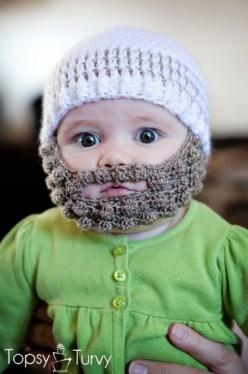 crochet-bearded-beanie-pattern free, I am just pinning this because it is ADORABLE!!!! I have to make one for my granddaughter cause her Uncle Scott has a beard