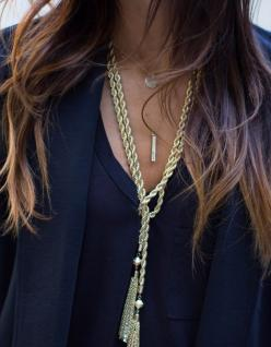 love the gold twist chain and other necklaces