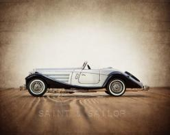 Silver and Black 1937 Mercedes Benz 540K