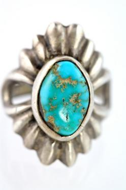Vintage Navajo Sand Cast Sterling Silver & by Yourgreatfinds