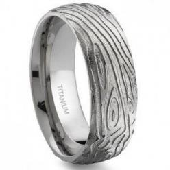 Woodgrain Titanuim Manly Wedding Ring, Natureque and indestrucable, We likey! @offbeatbride.com #$89.99