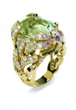 Collection Dior by Victoire de Castellane.  The ring is a tad gaudy but I love the color of the purple stone.