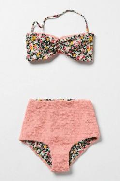 High waisted bikini (which you can possibly fold down for an improved tan, more attractive and functional than a trikini): Bathing Suits, Style, Bikinis, Swimwear, Swimsuits